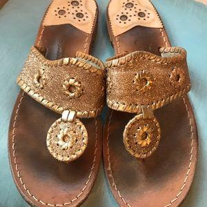 Jack Rogers Gold Metallic Sandal